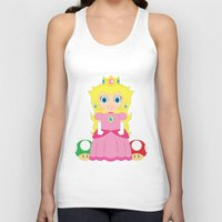 princess peach Tank Tops featuring Princess Peach by Xiao Twins