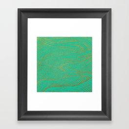Wind Gold Turquoise Framed Art Print