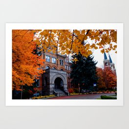 Amazing Fall Days on Campus--Gonzaga Art Print