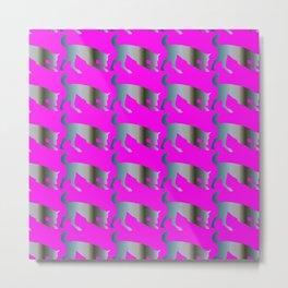 Wolf pattern Metal Print