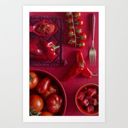 Red - the colors of food Art Print