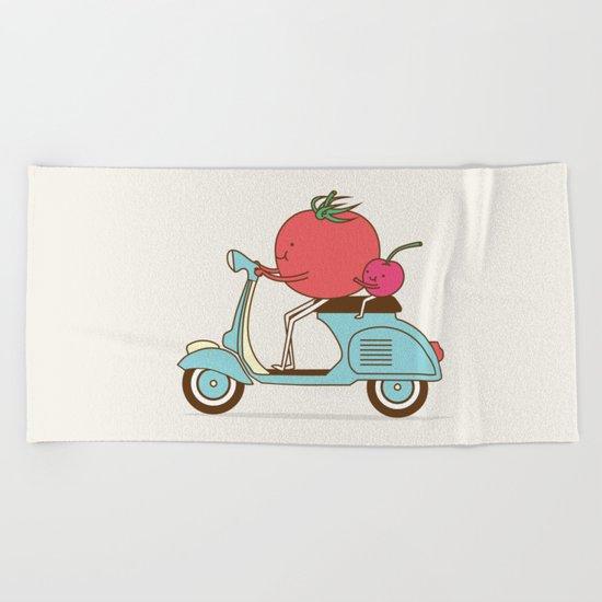 Cherry Tomato Beach Towel