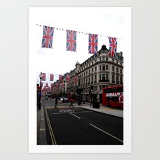 Buses and Bunting Art Print
