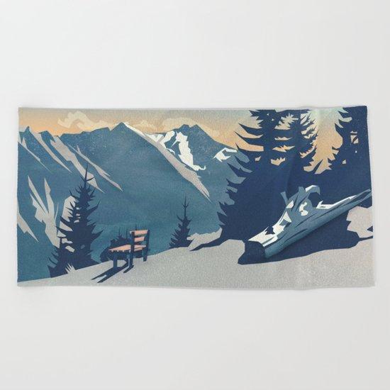 Mountain Sunrise (Pause II) Beach Towel