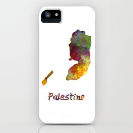 Palestine in watercolor iPhone Case