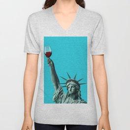Liberty of drinking Unisex V-Neck