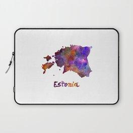 Estonia in watercolor Laptop Sleeve