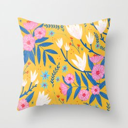 Magnolias and Camellias! Throw Pillow