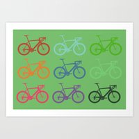 racing Art Prints featuring Racing bicycle by Fabian Bross