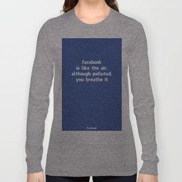 Poster Facebook Long Sleeve T-shirt