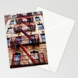Fancy Red Fire Escape Stationery Cards