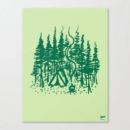 Campsite Canvas Print