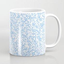 Tiny Spots - White and Baby Blue Coffee Mug