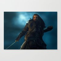 thorin Canvas Prints featuring Thorin by Stephanie Miles