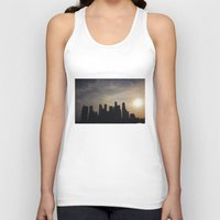 singapore Tank Tops featuring Singapore Skyline by LeahArtOfficial