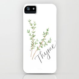 Thyme Illustration iPhone Case