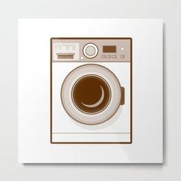 Retro Washing Machine Metal Print