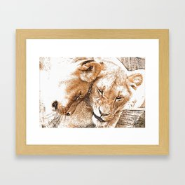 Cuddlin' Framed Art Print