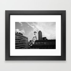 Bright Eyes on the Elevated Framed Art Print
