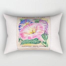 Morning Glory Seed Pack Rectangular Pillow