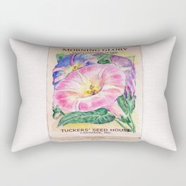 Morning Glory Seed Pack Rectangular Pillow