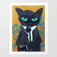 suit Art Prints featuring Suit by Alia13