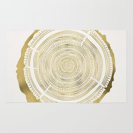 Douglas Fir – Gold Tree Rings Rug