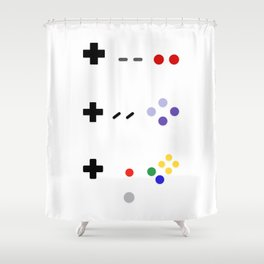 90's gaming Shower Curtain