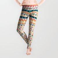 font Leggings featuring Pattern # 1 by Florent Bodart / Speakerine