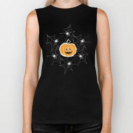 Happy Pumpkin - Pattern Biker Tank