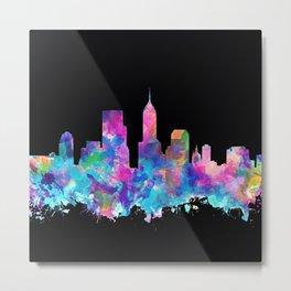 indianapolis city skyline watercolor 5 Metal Print