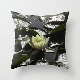Lotus on the water Throw Pillow