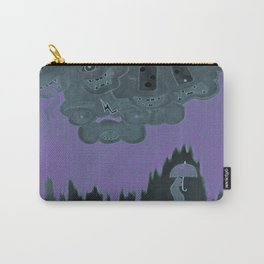 Strange Clouds. Black Rain.  Carry-All Pouch