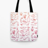 bathroom Tote Bags featuring Welcome to the bathroom by pakowacz