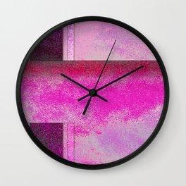Single Cluster- Abstract Digital Painting Wall Art Original Geometric Painting Wall Clock