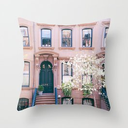 Spring in Greenwich Village - New York Photography Throw Pillow
