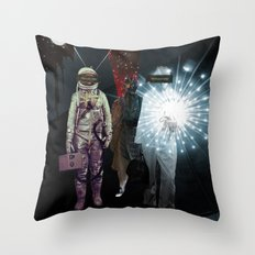 Space Check 2 Collage Throw Pillow