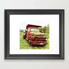 Red Truck Framed Art Print