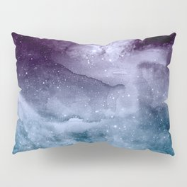 Watercolor and nebula abstract design Pillow Sham
