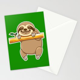 Cute Sloth Stationery Cards