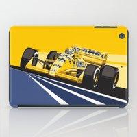 senna iPad Cases featuring Ayrton Senna 1987 by Sean Kane Design