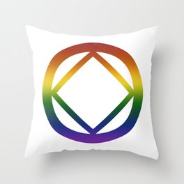 Narcotics Anonymous Rainbow Pride Symbol Throw Pillow