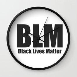 Black Lives Matter BLM Wall Clock
