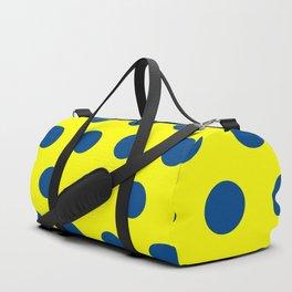 maize and blue polka dots Duffle Bag