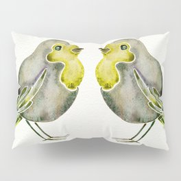 Little Yellow Birds Pillow Sham