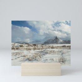 The Land of snow Mini Art Print