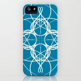 Blue White Swirl iPhone Case