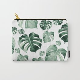 Tropical Monstera Pattern #2 #tropical #decor #art #society6 Carry-All Pouch