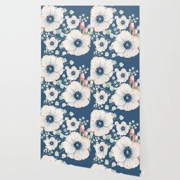 Summer Flowers Blue #society6 #buyart Wallpaper