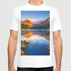 Twin Mountains White MEDIUM Mens Fitted Tee